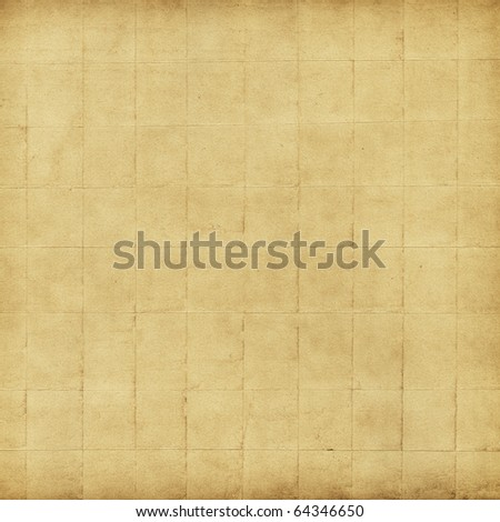 Sheet of crumpled paper, beige - stock photo