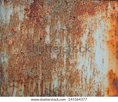 Sheet of ferruginous metal. Isolated on a white background - stock photo