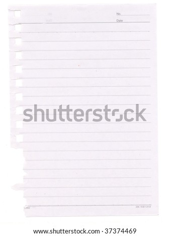 sheet of paper torn up from a notebook - stock photo