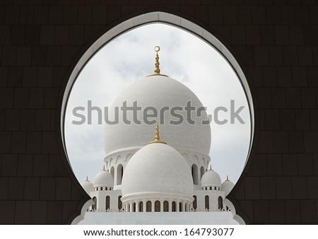 Sheikh Zayed Mosque, Abu Dhabi, UAE - stock photo