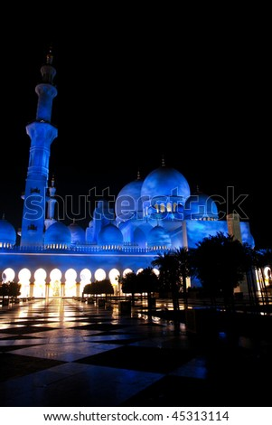 Sheikh zayed mosque in Abu Dhabi, UAE, Middle East - stock photo