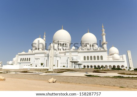 Sheikh Zayed Mosque in Middle East United Arab Emirates Sheikh Zayed  - stock photo