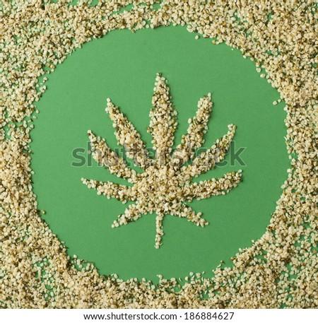 Shelled hemp seeds - stock photo