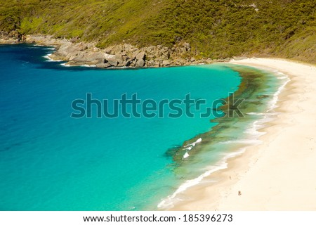 Shelley Beach, in West Cape Howe National Park, near the towns of  Albany and Denmark in Western Australia. - stock photo