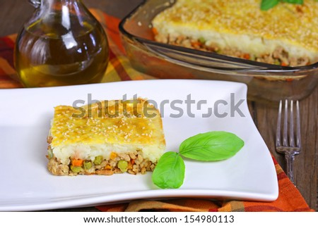 Shepherd's pie - stock photo