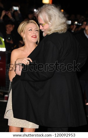 "Sheridan Smith and Billy Connolly at the premiere for ""Quartet"" being shown as part of the London Film Festival 2012, Odeon Leicester Square, London. 15/10/2012 Picture by: Steve Vas - stock photo"