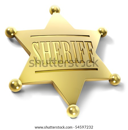 Sheriff badge - stock photo