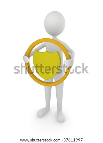 Shield protection - stock photo