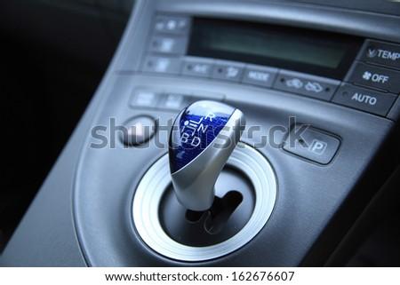 Shift lever - stock photo
