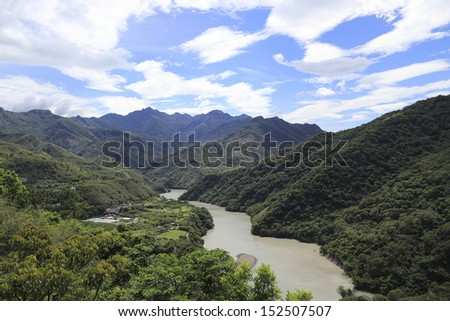Shih-Men Reservoir,Taoyuan County, Taiwan - stock photo