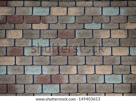 Shingle roof pattern for textured background - stock photo