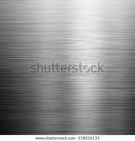 shining brushed metal surface ; industrial background - stock photo