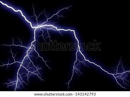 Shining lightning, generated illustration - stock photo