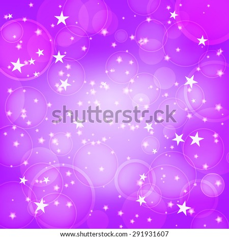 shining purple background with stars. raster version - stock photo