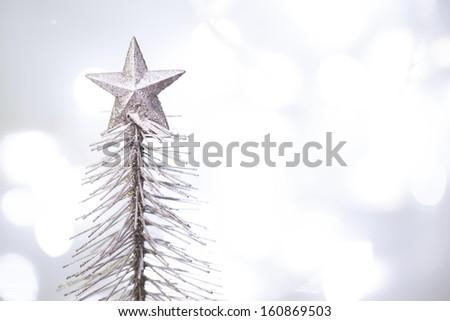 Shinny Christmas Tree, abstract background.  - stock photo