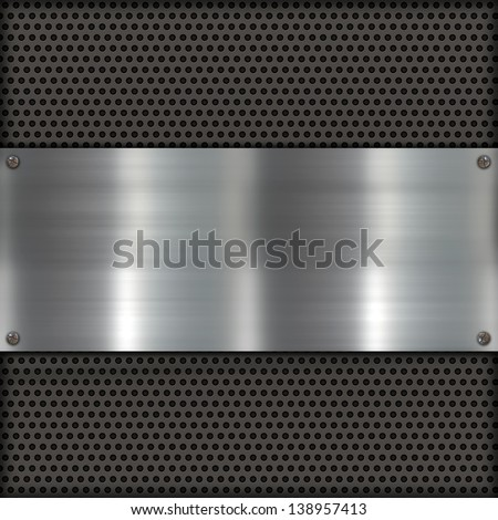Shiny brushed metal and carbon fiber - stock photo