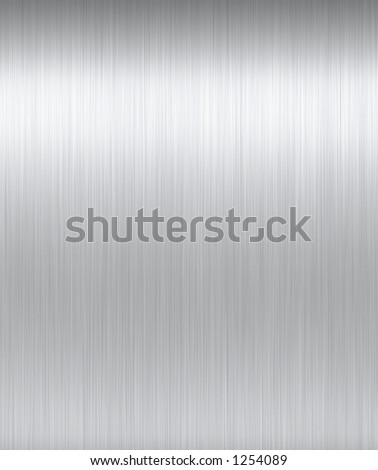 Shiny Brushed Steel. Texture or background. Tileable, repeatable hoirzontally. - stock photo