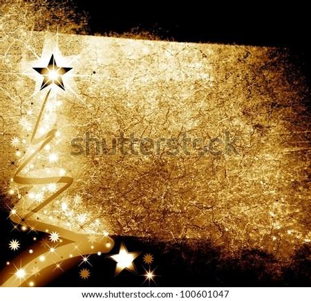 Shiny Christmas card - stock photo