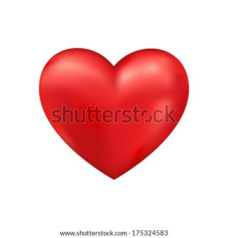 Shiny 3d heart. Valentine romantic background - stock photo