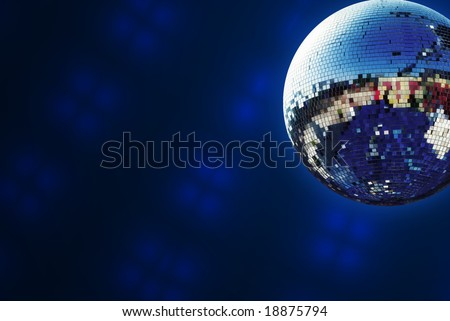 Shiny disco ball background - stock photo