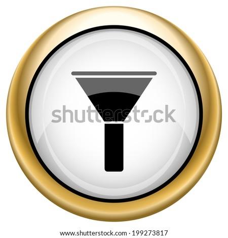 Shiny glossy icon. Internet button on white background - stock photo