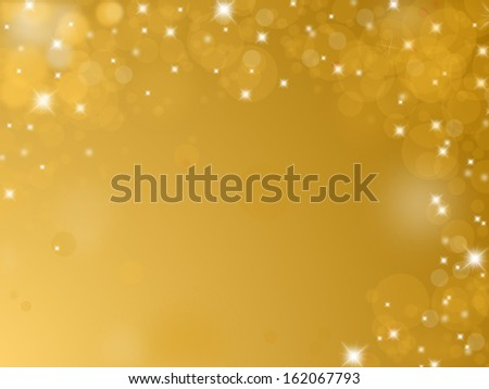 Shiny golden background with text space - stock photo