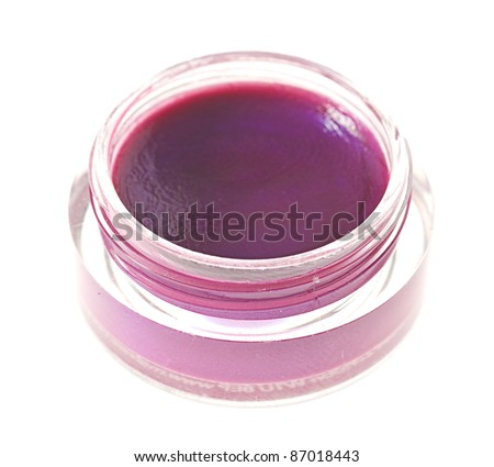 shiny lip gloss isolated on a white background - stock photo