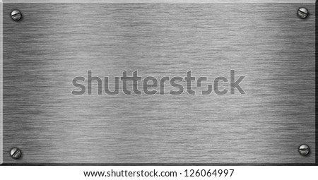 shiny metal plate as background for your text - stock photo