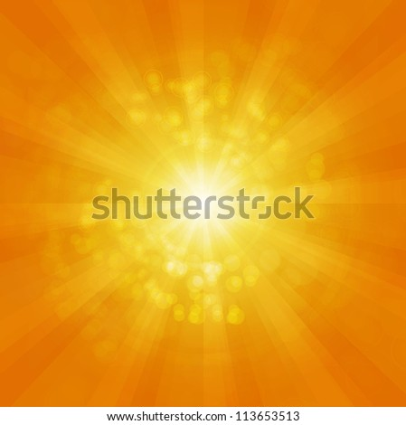 Shiny orange background - stock photo