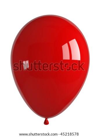 shiny red balloon - stock photo