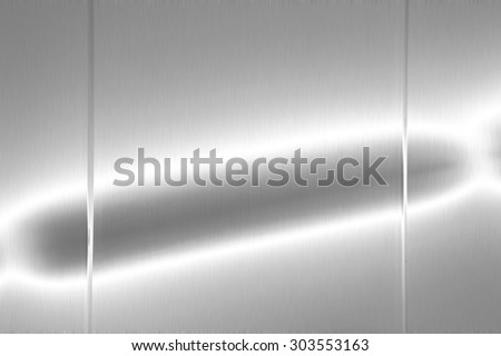 shiny silver metal board background texture - stock photo