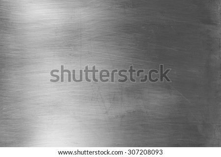 Shiny silver metal surface - stock photo