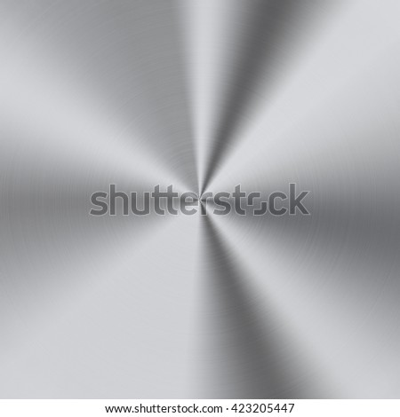 Shiny stainless steel metal background - stock photo