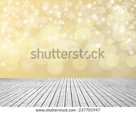 Shiny starry lights on red background. christmas background. light bokeh  - stock photo