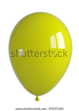 shiny yellow balloon - stock photo