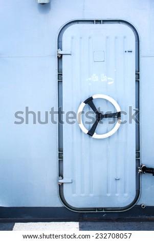 ship door - stock photo
