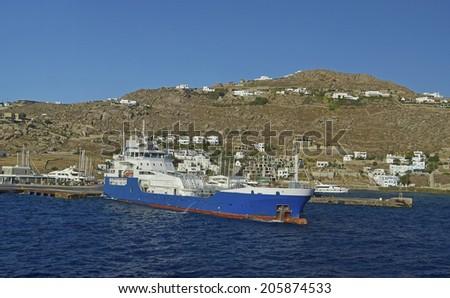ship petrol - stock photo
