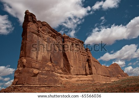 Ship Rock Of State, Arches National Park - stock photo