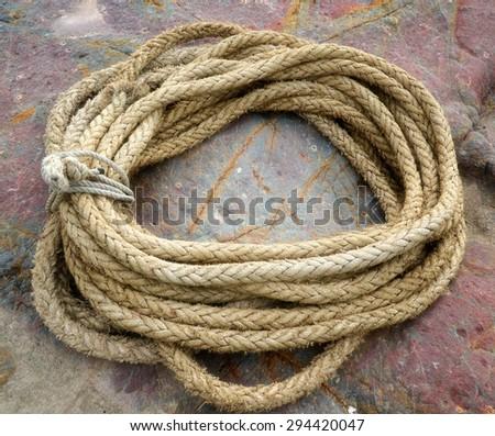 ship rope - stock photo