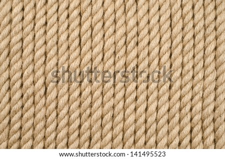 Ship rope as background texture - stock photo