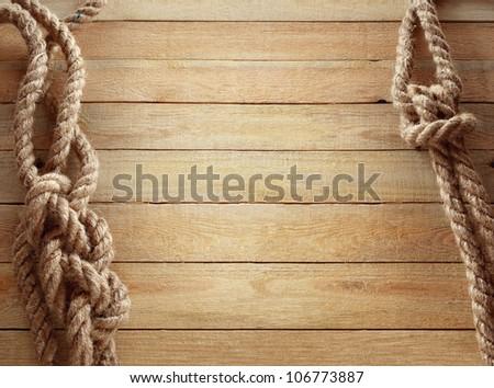 Ship ropes - stock photo