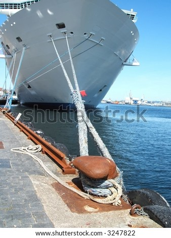 Ship's Mooring - stock photo