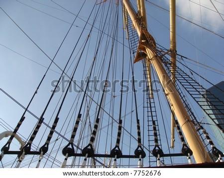 ship's ropes - stock photo