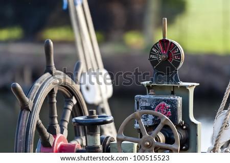 Ship telegraph - stock photo