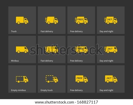 Shipments and free delivery icons. See also vector version. - stock photo