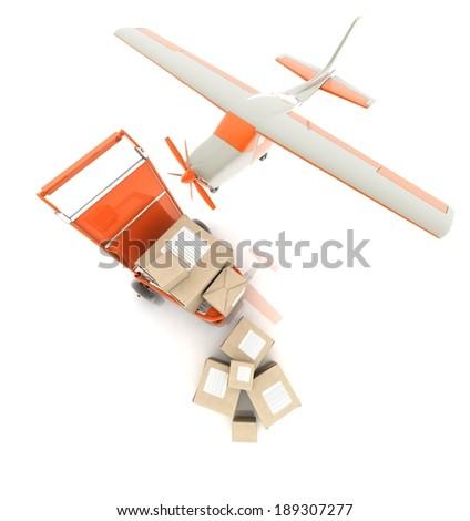 Shipping (cargo transportation) - stock photo