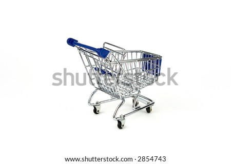 Shipping cart isolated on White - stock photo