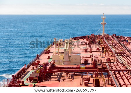 Ships bow on blue sea background - stock photo - stock photo
