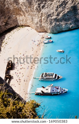 Shipwreck bay - Zakynthos, Zante,  Greece - stock photo