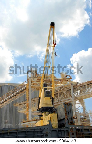Shipyard Crane - stock photo